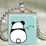 Shy Panda Scrabble Pendant with Nec..