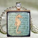 Seahorse Scrabble Pendant with Neck..